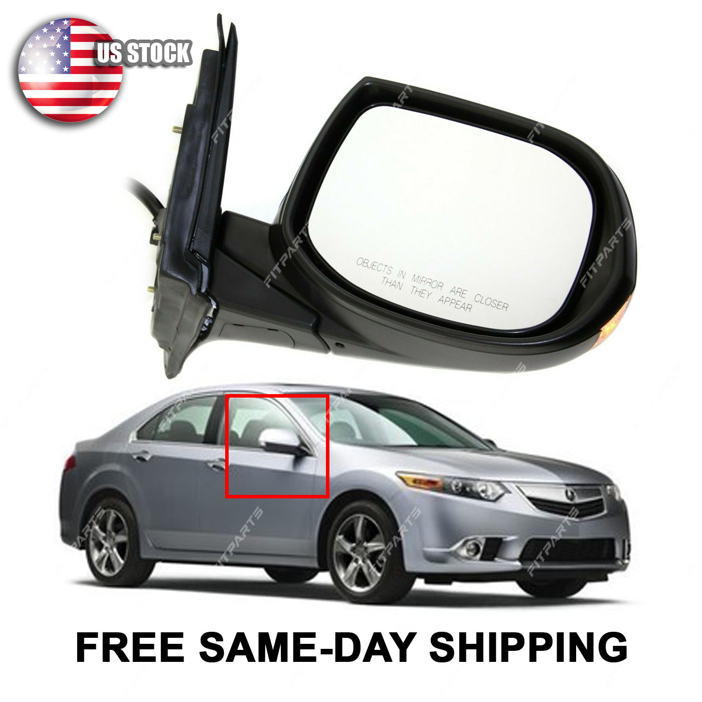 Power Turn Signal Side View Mirror Passenger Side Right RH for 2004 Acura TSX